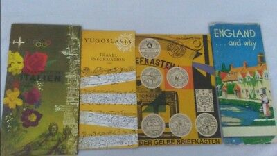 1950s 1960s Europe travel guides  brochures England Italy Yugoslavia Germany