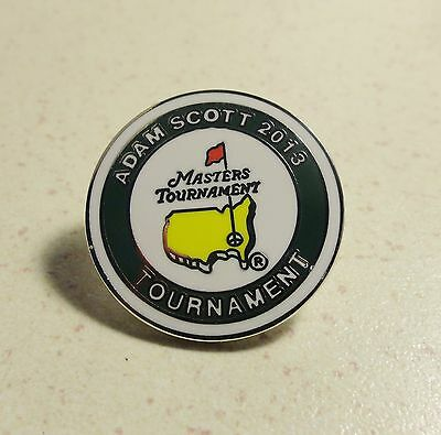 2 only  ADAM SCOTT TRIBUTE 2013 US MASTERS  GOLF HAT PINS -Special price
