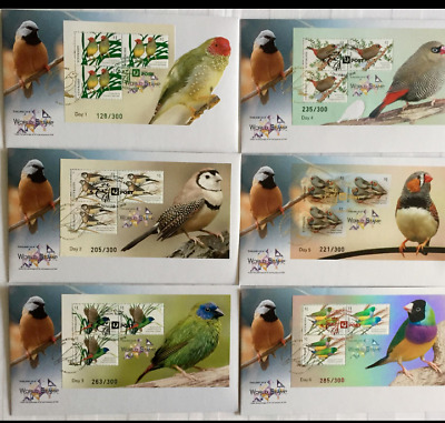 Australia Thailand World Stamps Exhibition 2018 Ms Fdc 6 Days Birds Limited Rare