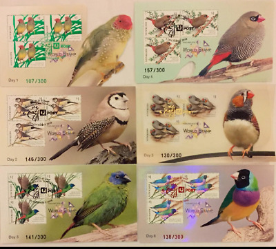 AUSTRALIA THAILAND WORLD STAMPS EXHIBITION 2018 Day 1-6 = 6 MS BIRDS LTD NUMBER