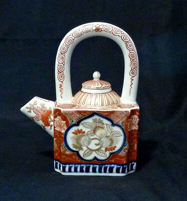 Old Imari signed small Tea pot  japanese antique Meiji period #271