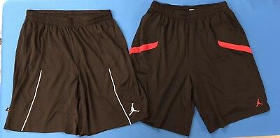 4acd55f3b5a4 LOT OF 2 Nike Men s Jordan XXL Dri-Fit Basketball Shorts White Black Red (