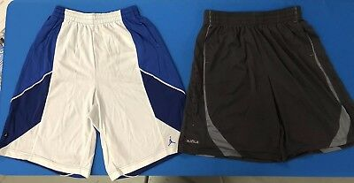 fe05843b88d2 LOT OF 2 Nike Men s Jordan   Lebron XXL Basketball Shorts White Blue Black  (1
