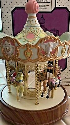 RARE Vintage WACO Melody In Motion Victoria Park Carousel IN BOX Porcelain
