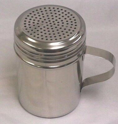 10 Ounce Stainless Steel with Handle DREDGE / SPICE / SALT / PEPPER SHAKER Nice