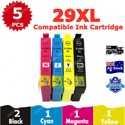 5x 29 XL 29XL T29XL Ink For Epson expression Home XP235 XP332 XP335 XP245 XP 442