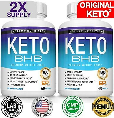 Ultra Fast Pure Keto BHB Weight Loss Diet Pills Ketogenic Supplement 90 CAPSULES