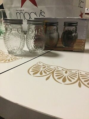owl salt and pepper shakers clear glass