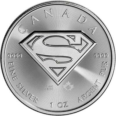 2016 Canada $5 Maple Leaf Superman S Shield 1 oz .9999 Silver ~~~ From mint tube