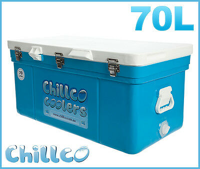 70L Chillco Ice Box Cooler Chilly Bin Superior Ice Retention-Rrp $380