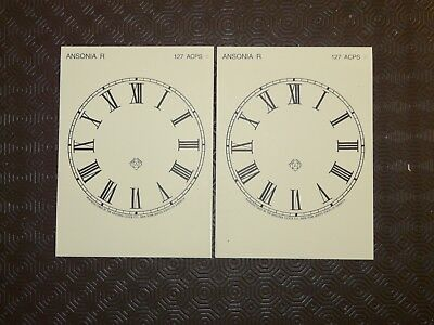 Antique Ansonia USA 1900s Clock Dials 2 New Reproduction for Mantle Clocks