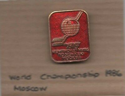 1986 World Championship Moscow -  Lapel badge