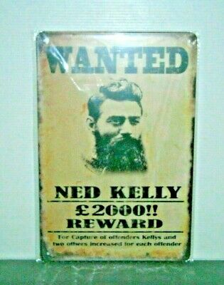 NKMS10 Ned Kelly Metal Sign New 30 cm H X 20 cm W