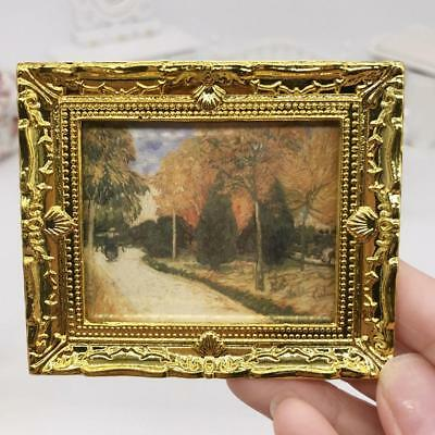 Mini Oil Painting Scenery Miniature DIY 1:12 Miniature Dollhouse Decor