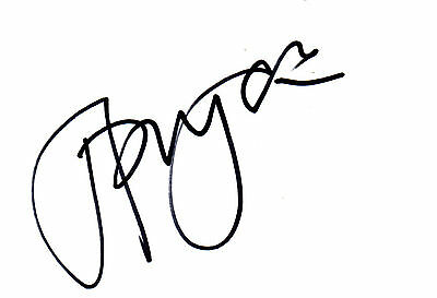 BRITISH ACTOR JONATHAN PRYCE HAND SIGNED 6 x 4 WHITE CARD