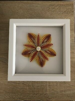 Wall Art Quilling Flower Paper Quilled Wall Art For Home Decor