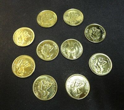 12 Sexy Girl Novelty Token Coins Heads I Win - Tails You Lose Numismatic Coin