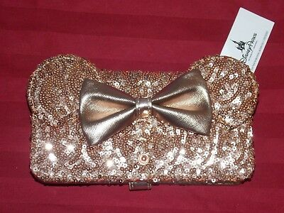 NEW Disney Parks Minnie Mouse Rose Gold Loungefly Wallet I PHONE 8+ CELL CASE