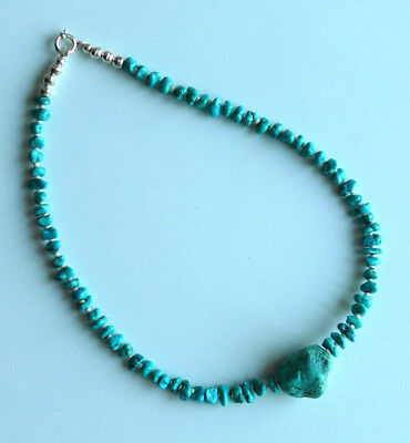 Native American Natural Turquoise Nuggets Necklace