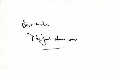 ENGLISH ACTOR NIGEL HAVERS HAND SIGNED 6 x 4 WHITE CARD