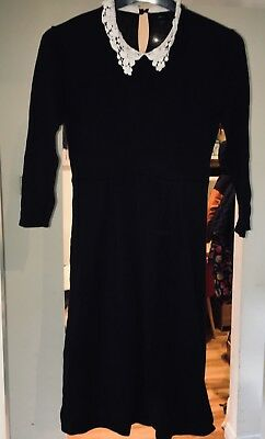 Asos black maternity dress size 12, with lace detail