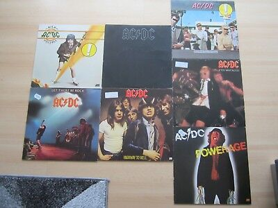 7 AC/DC LP´s Powerage, If You, Dirty, Highway,Let there, Back in, High Voltage
