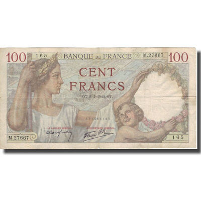 [#575693] France, 100 Francs, 100 F 1939-1942 ''Sully'', 1942, 1942-01-08