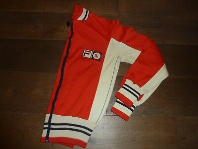 ffb489aff00a Vintage OG Fila Bj Borg Chinese Red Settanta Tracksuit Top 1980s Casuals  S/XS