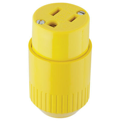 Hubbell 515CYZ 15-Amp 125 V Yellow 3-Wire Grounding Connector NEW Free Shipping