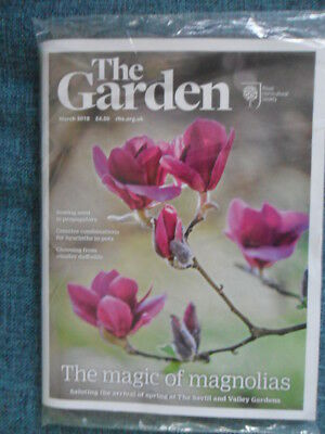 Rhs The Garden Magazine March 2018 Daffodils Magnolias Hyacinths New & Sealed