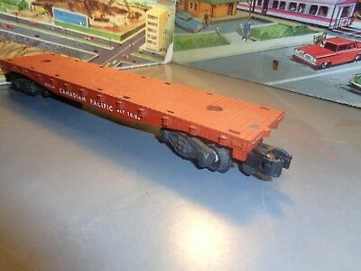 American Flyer S Scale Vintage 1930 Canadian Pacific Flat Car No 24558   5-69-15
