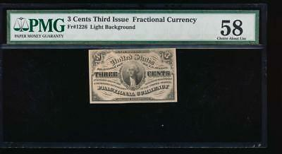 AC Fr 1226 $0.03 1864 fractional Third issue PMG 58