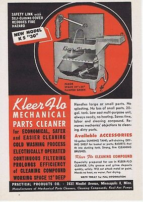 1945 Ad - KLEER FLO MECHANICAL PARTS CLEANER, PRACTICAL PRODUCTS CO.