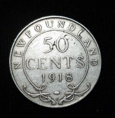 """1918-C Newfound Fifty Cent Silver Coin  """" We Combine Shipping """""""