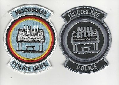 Miccosukee Indian Police Swat Set of 2  RESTRICTED SALE