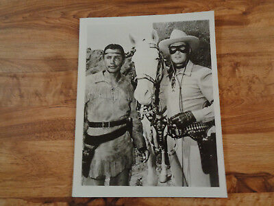 VINTAGE THE LONE RANGER Photo Clayton Moore Jay Silverheels & Silver 8 x 10