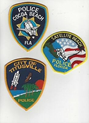 Set of 3 Florida Police Space Shuttle