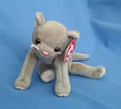 TY BEANIE BABY Cat - SCAT - with ear tag - Smiling Version - Retired ... 60c49d425733