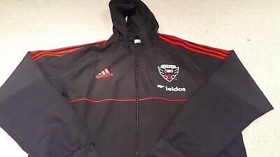 DC United Full Zipped Hooded Jacket by Adidas - Size XL - BNWT