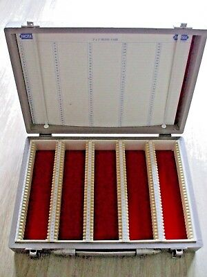 Vintage Photo Slide Storage Box   Single Layer Holds 175 Slides Photax