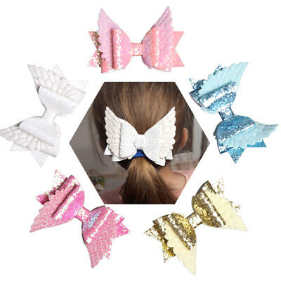 4'' Angel wing princess hairgrips party girls hairpin hair accessories Gut