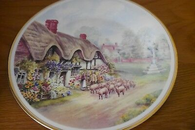 Fenton China Cottages Of Rural England Bishops Green Display Plate