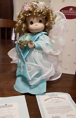 "Ashton-Drake Galleries ""Faith is Heaven's Sweet Song"" Precious Moments Doll"