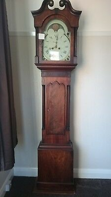 Grandfather Clock Long Case in need of tlc condition can be seen in photos