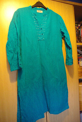Fabindia Green Tunic/ Kurta Top Size L