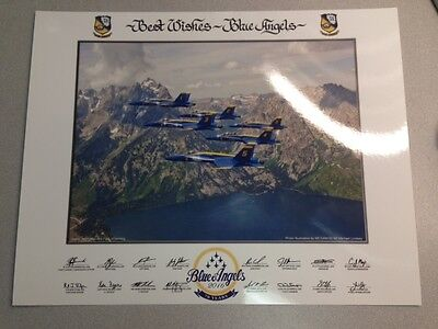 """2016 US NAVY BLUE ANGELS """"70th Anniversary Year"""" 11x14 PRINT LITHO Authentic"""