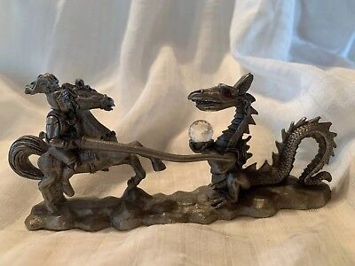 spoontiques pewter Knight And Dragon Cmr657
