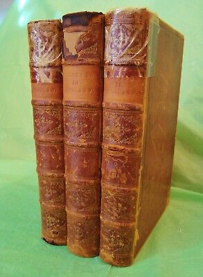 1849 RARE 3-Vol Set ANECDOTES OF PAINTING IN ENGLAND Leather ENGRAVINGS 1008+pg