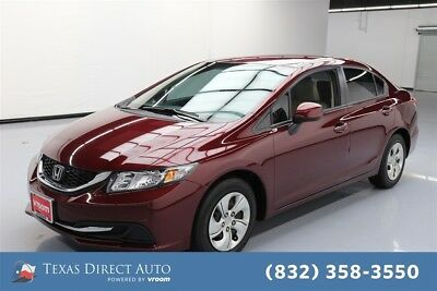 2013 Honda Civic LX Texas Direct Auto 2013 LX Used 1.8L I4 16V Automatic FWD Sedan