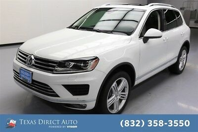 2016 Volkswagen Touareg AWD TDI Executive 4dr SUV Texas Direct Auto 2016 AWD TDI Executive 4dr SUV Used Turbo 3L V6 24V Automatic